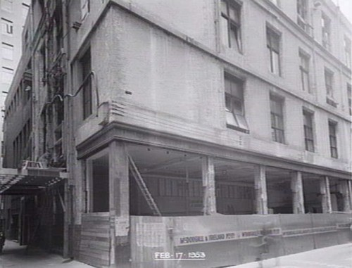 Construction of the Degraves Street Subway, 1953