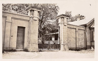 The entrance gate to the former Yarra Bend Asylum