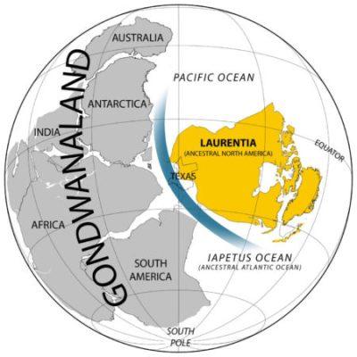 Map of Gondwanaland