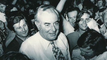 Gough Whitlam on election night, 1972