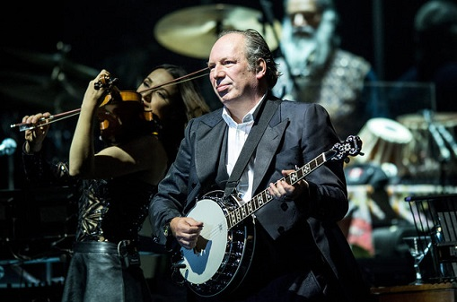 Composer Hans Zimmer during a live performance