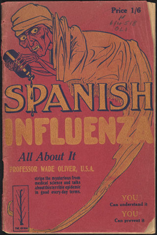 Local pamphlet about 'Spanish Flu', published 1918.