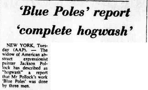 Blue Poles defended by Lee Kransberg