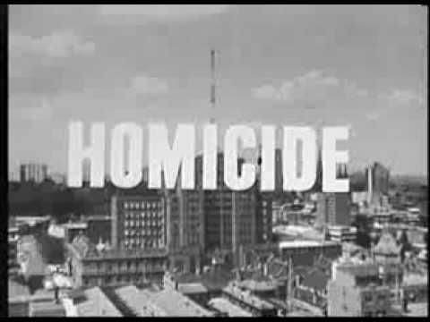 Opening credits for TV show 'Homicide'