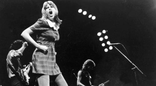 Chrissy Amphlett, on stage with the Divinyls
