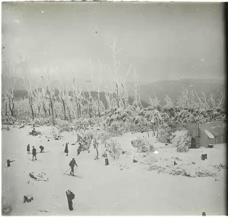 Skiing on Mount Donna Buang, 1929