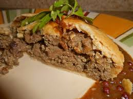 A 'umble pie', the origin of the phrase to eat humble pie