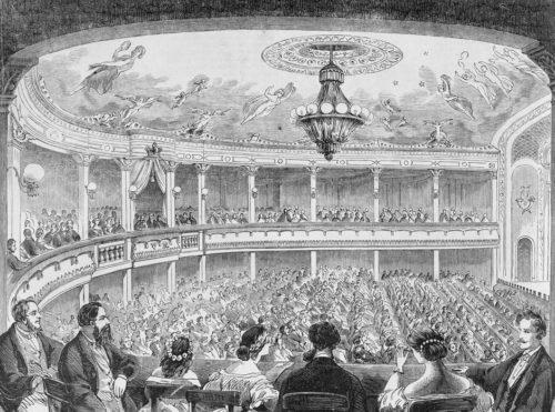 The interior of The Princess Theatre, circa 1888