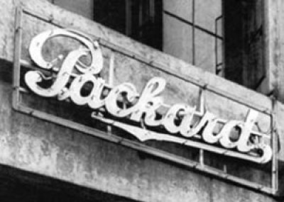 The first neon sign erected in the US, for a Los Angeles car dealership.