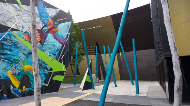 Blue Poles at the National Museum of Australia