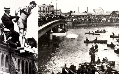 When Houdini Came to Melbourne: Houdini jumps into the Yarra