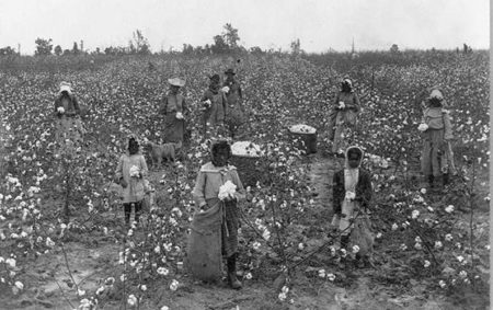Sharecropping in the US South, 1870s.