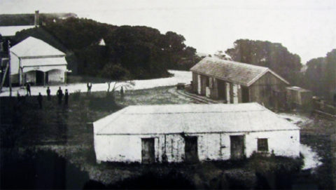 Former storehouse of Patrick Sullivan, front of picture.