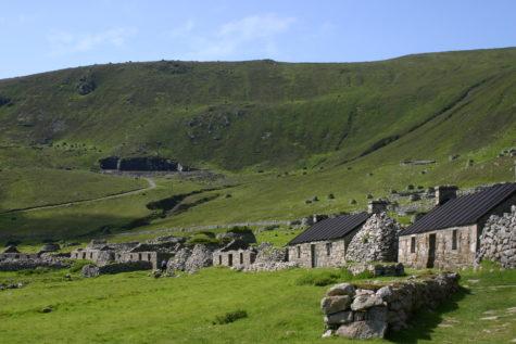 Hirta Island in the Hebrides