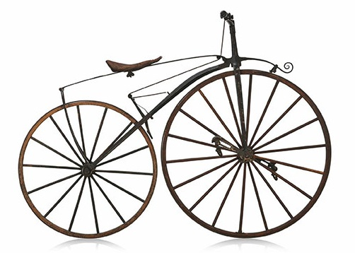 A pciture of a velocipede