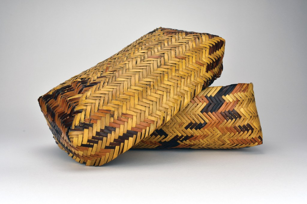 Lidded Basket, ca. 1950, by Lottie Queen Stamper (1907 to 1987)