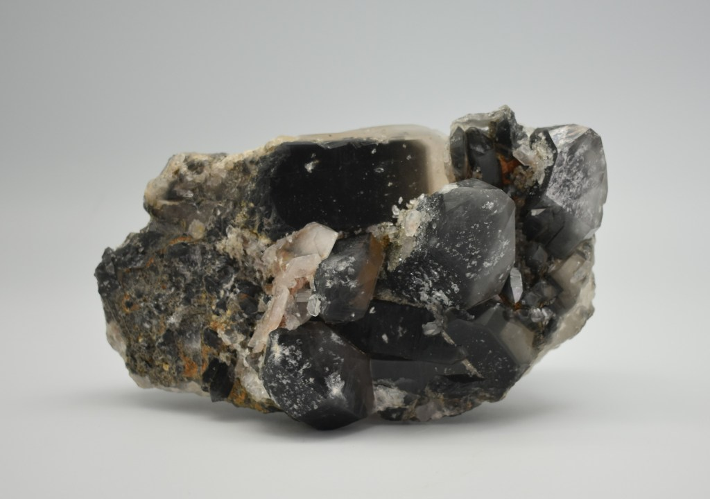 A large chunk of naturally irradiated smoky quartz