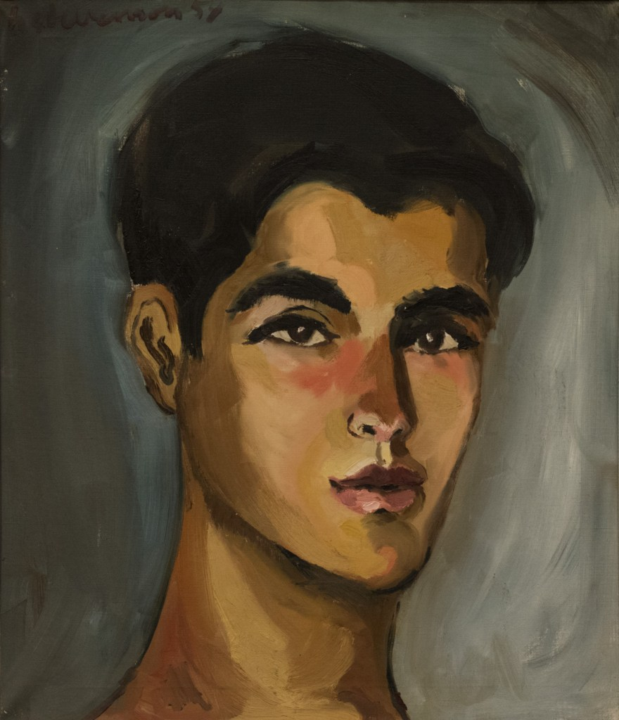 A painting of a young Hispanic man by Harold Stevenson