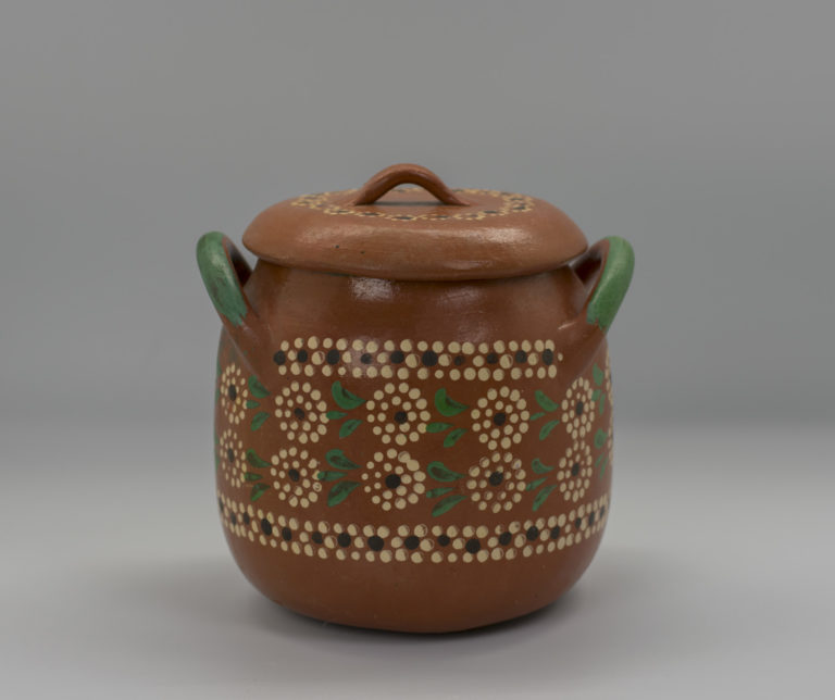 "Lidded ""bean pot"", ca. 1960 – 1980. Tlaquepaque, Jalisco"