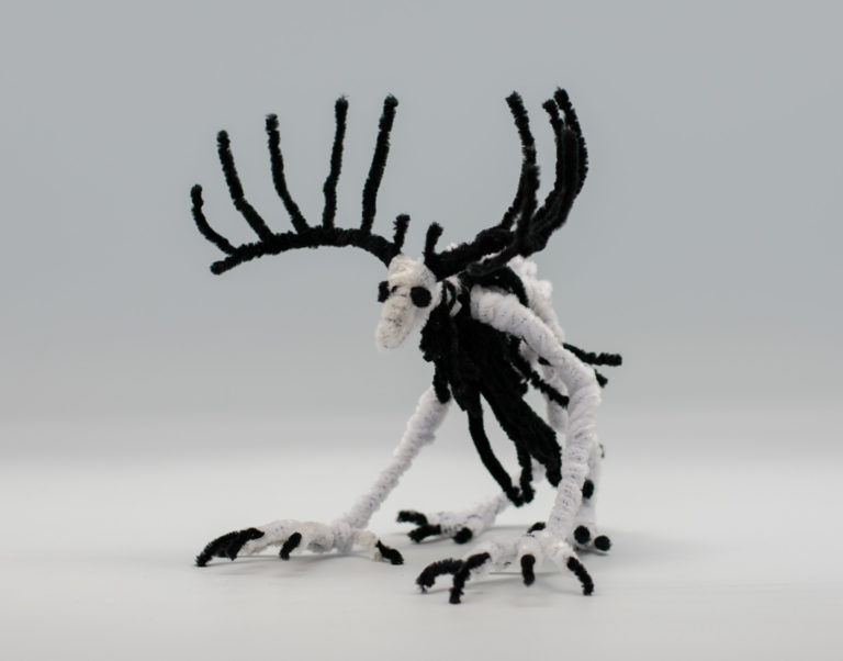 Wendigo Sculpture by Quaed Cox. Best of show, three-dimensional art, ages 16 to 19. NFS.
