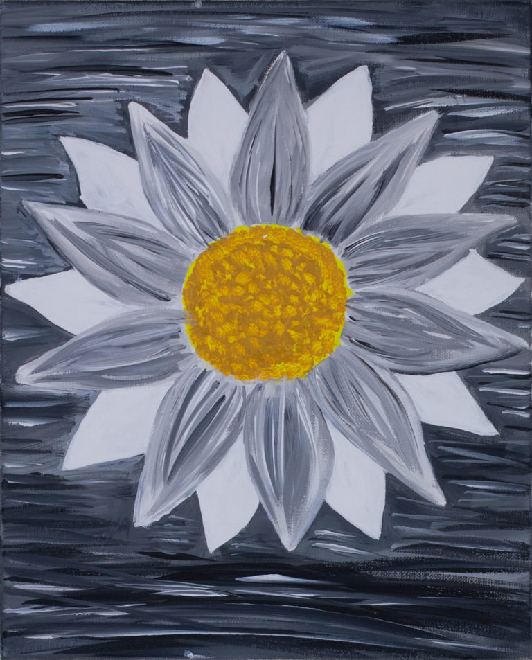 Lonesome Flower by Alissa Ferrell. Third place, two-dimensional, ages 16 to 19.  NFS.
