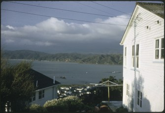 TEV Wahine on her side as seen from the Seatoun