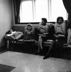 Women and children waiting in the Public Room.