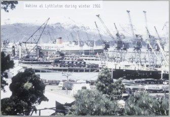 TEV Wahine at Lyttleton during winter 1966