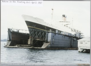 TEV Wahine in the floating dock April 1967