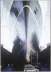 TEV Wahine in floating dock, 1967
