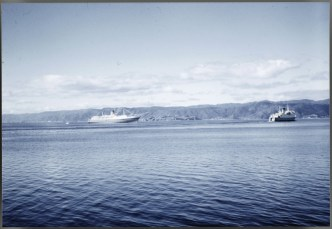 TEV Wahine maiden arrival into Wellington Harbour
