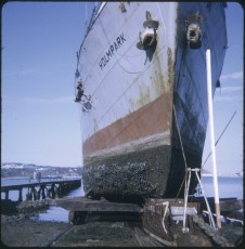 The salvage vessel Holmpark out of the water at Patent Slip