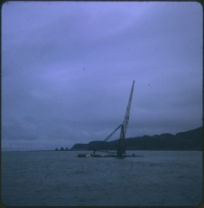 TEV Wahine wreck with crane attached