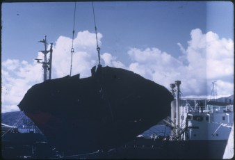 A part from the TEV Wahine wreck being lifted