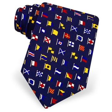 International Code Flags Silk Tie, Gift, Silk, Tie, Maritime