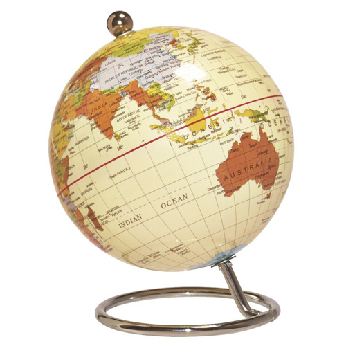 Antique Desk Globe - Medium Antique Desk Globe - Museums Wellington