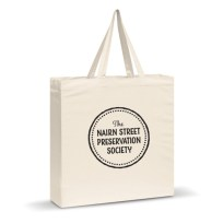 Nairn Street Preservation Society Tote Bag, Black Print Tote Bag