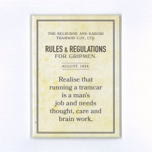 Gripmen Rules Brain Work Magnet