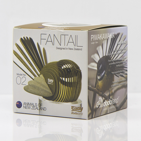 Fantail Dodoland 3D Cardboard, Piwakawaka, Fantail, Dodoland,environmentally friendly, 3d, model, collectable