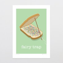 Fairy Trap Print, Fairy Bread, Kiwi, NZ Made, Print, Art, Glenn Jones