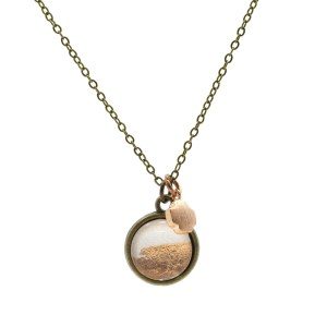 Pink & Copper Foil Necklace