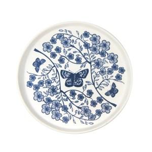 White Manuka on Blue Ceramic Plate