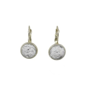 Silver Foil Earrings