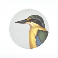 Gift, Homewares, Coaster, Kingfisher, 100 Percent New Zealand,