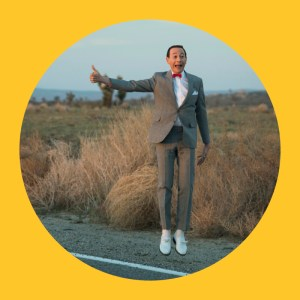 Pee Wee's Big Adventure. Pee Wee on the side of the road hitch hiking