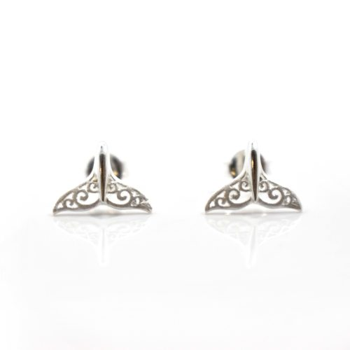 Sterling Silver Whale Tail Earrings, Jewellery