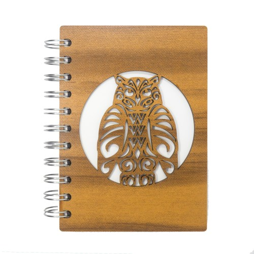 Owl Wood Stencil Notebook