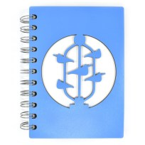 Bucket Fountain Notebook by Abstract Design - Blue