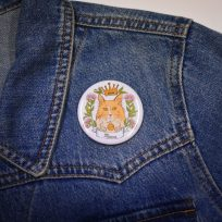 Mittens 2-in-1 Magnet and Badge