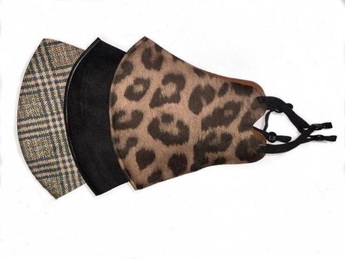 Pack of 3 Face Masks - Animal, Plaid, Black by Queen of the Foxes
